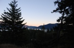 Sunset across Howe Sound